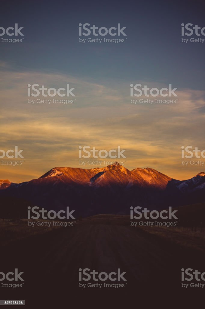 Absaroka Road View stock photo