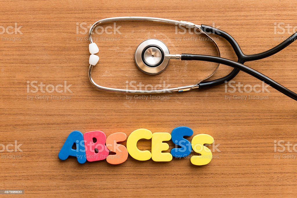 abscess stock photo