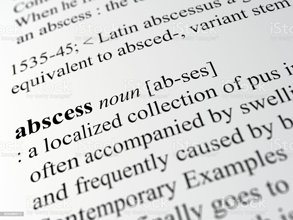 abscess stock photo