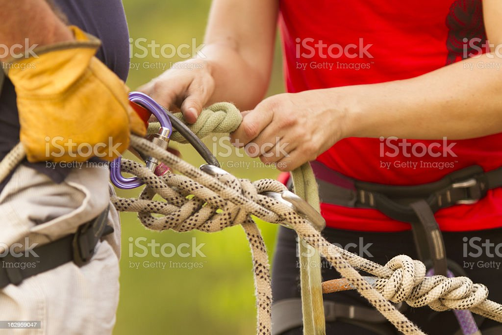 Abseiling instructor royalty-free stock photo
