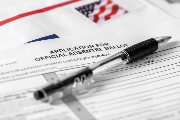Absentee Ballot By Mail US Voting Fraud stock photo