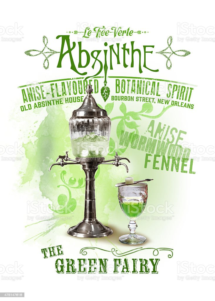 Absinthe NOLA Collection stock photo