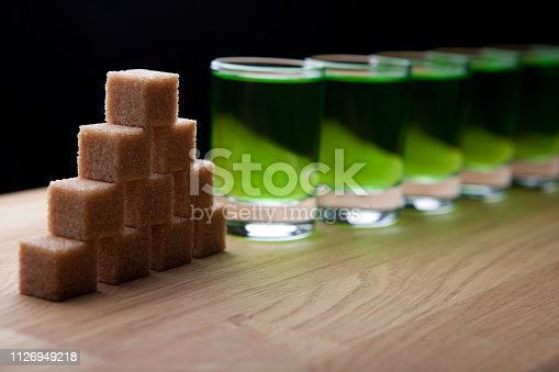 absinthe shot glass sugar