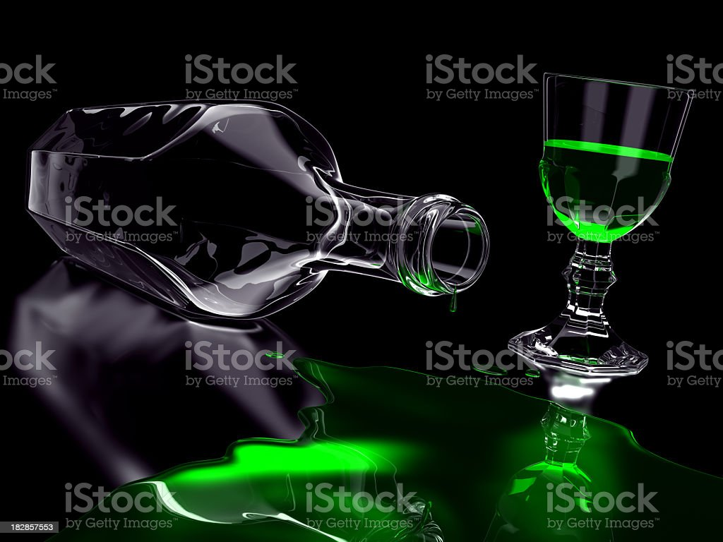 Absinthe Spill stock photo