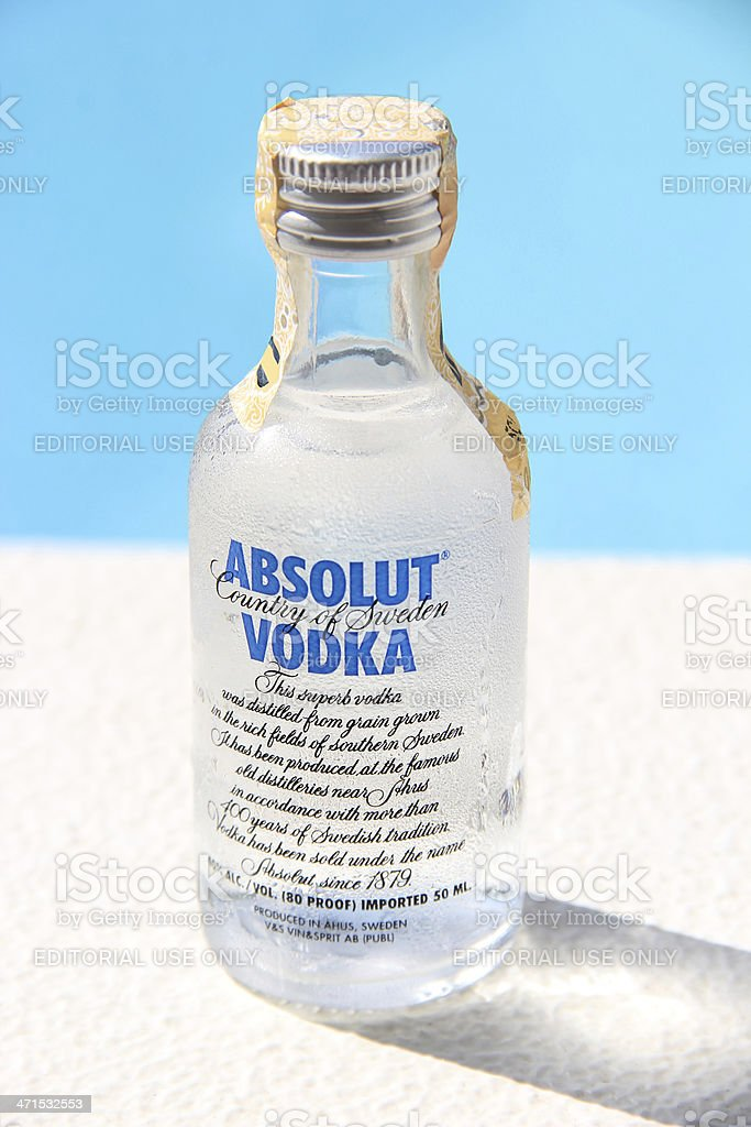 Absolut Vodka royalty-free stock photo