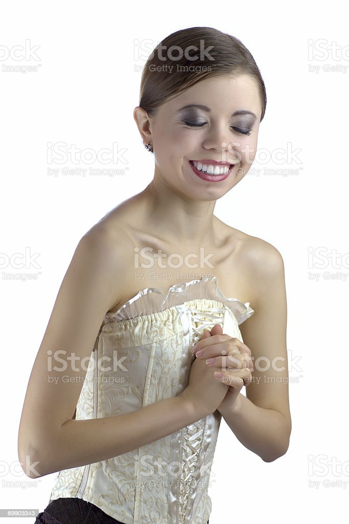 Absolutely happy woman royalty-free stock photo