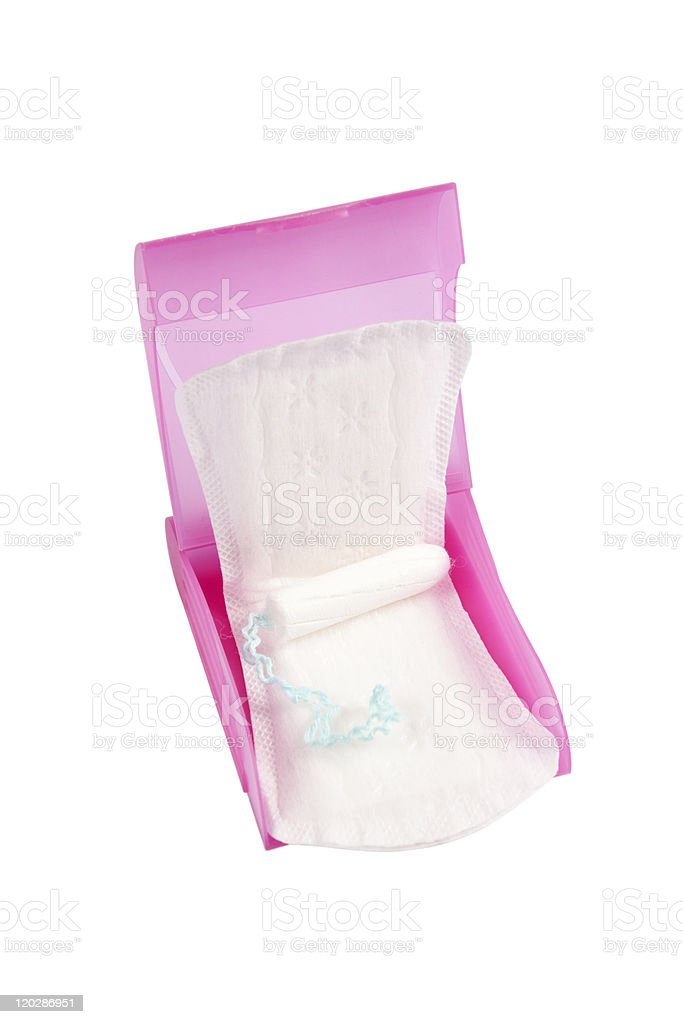 Absorbent and tampon-products for feminine hygiene royalty-free stock photo