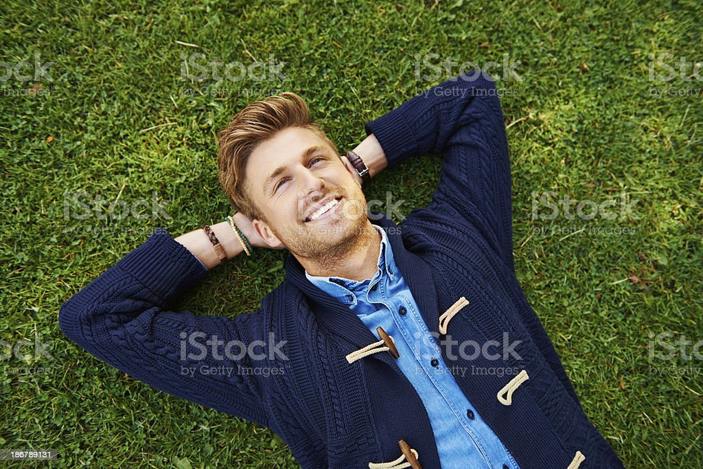 Absorbing all the awesome life has to give royalty-free stock photo