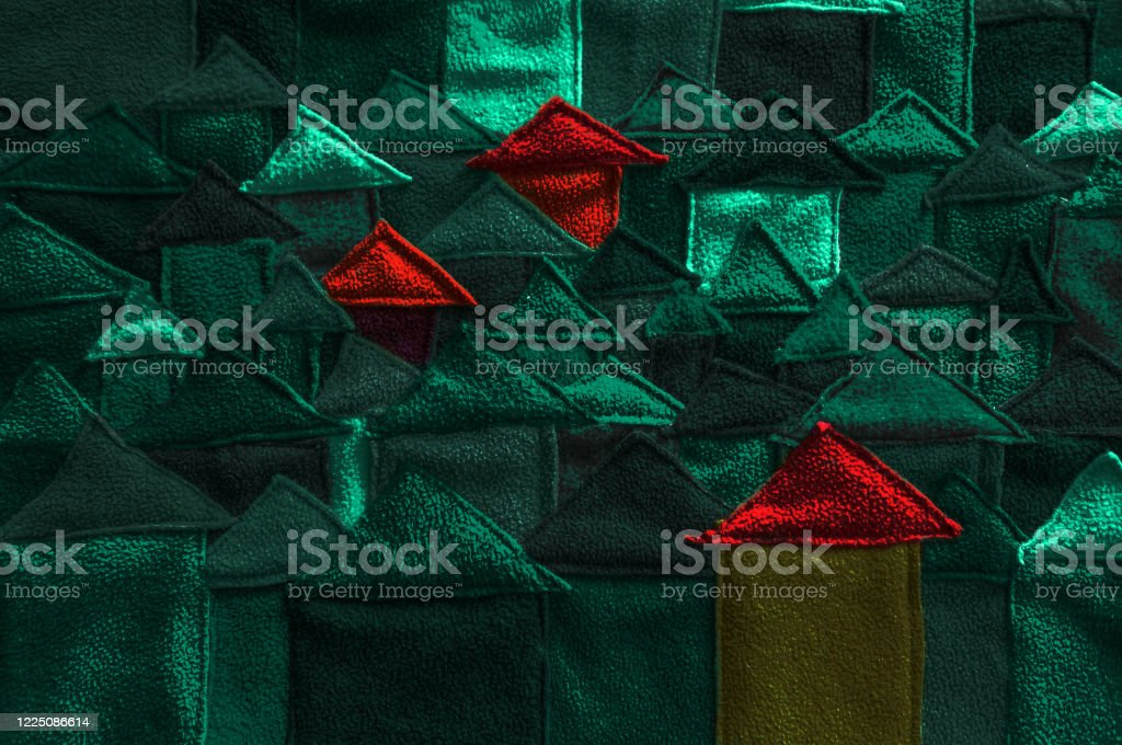 Abstact City With Houses Made From Fabric Stock Photo Download Image Now Istock
