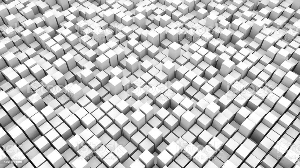 abstact white cubes. 3d rendering backdrop stock photo