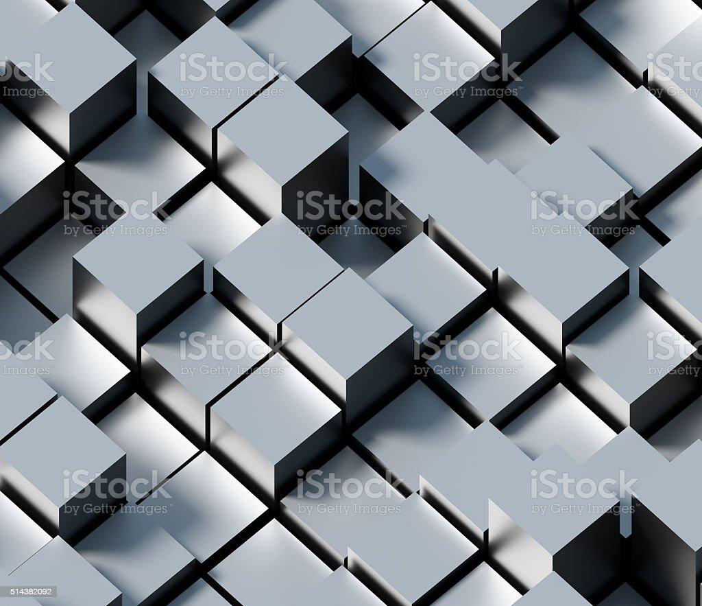 Abstarct metal cube background stock photo