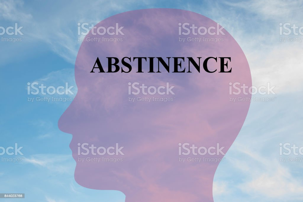 Abstinence concept stock photo