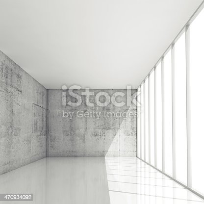470934084 istock photo Abstract 3d architecture background, empty white interior 470934092