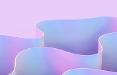 istock Abstract 3d art background with curve shape. Holographic color. 1266776339