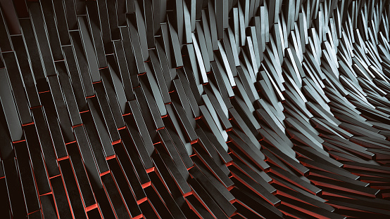 Abstract digital futuristic background. 3D rendered image.