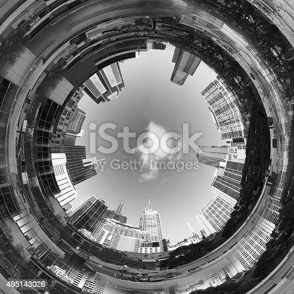 istock Abstract 3d City Tunnel 495143026