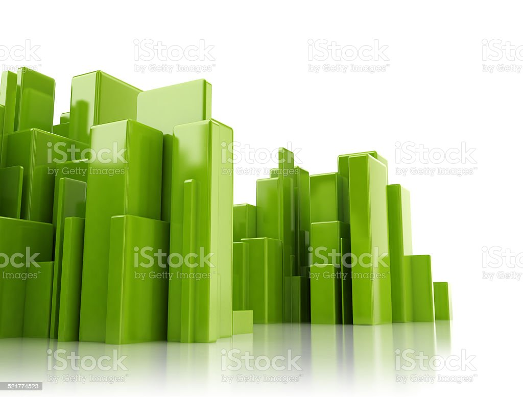 Abstract 3d cityscape stock photo