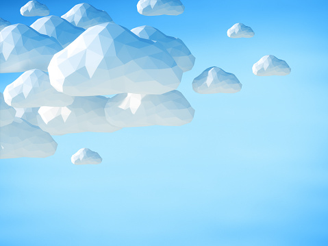 istock Abstract 3D clouds on blue sky background 484634440