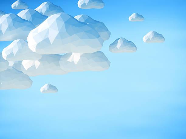 Astratto 3D di nuvole su sfondo blu cielo - foto stock