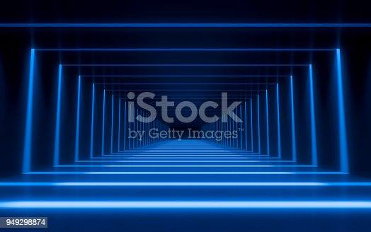 istock Abstract 3d corridor 949298874