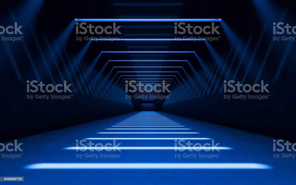 Abstract 3d corridor - Royalty-free Abstract Stock Photo