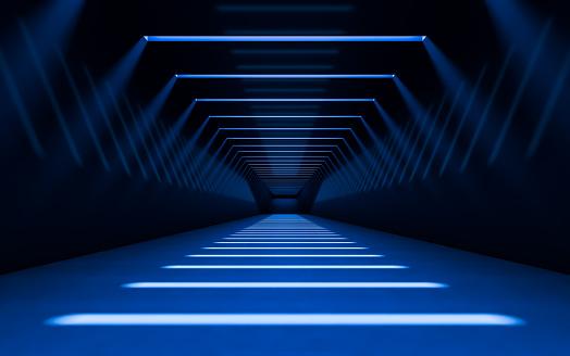 istock Abstract 3d corridor 949309726