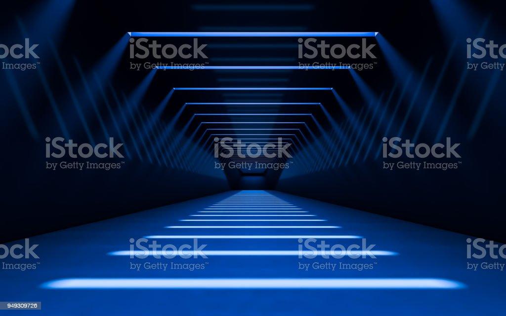 Abstract 3d corridor stock photo