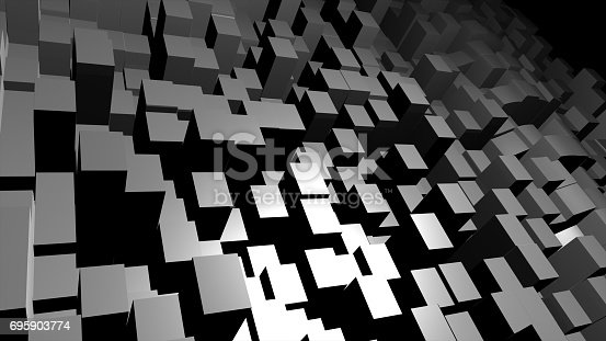 istock Abstract 3D cubes background 695903774