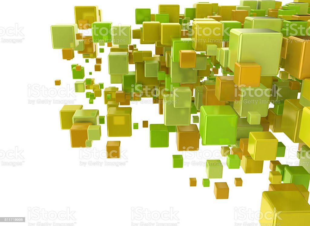 3 D abstractos cubos - foto de stock