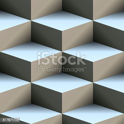 istock Abstract 3d cubes 517971722
