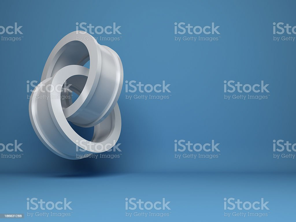 Abstract 3d cylinders design background royalty-free stock photo