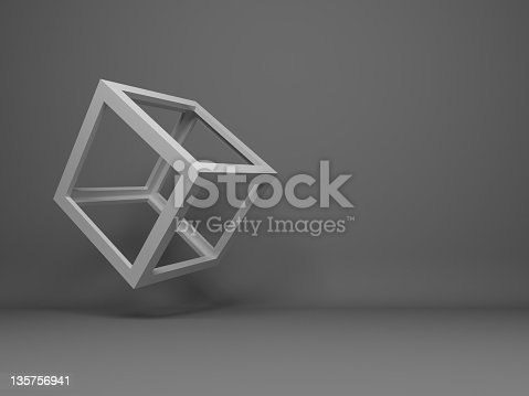 abstract flying 3d cube design background