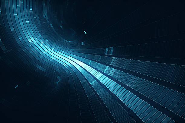 abstract 3d futuristic background - teleport bildbanksfoton och bilder