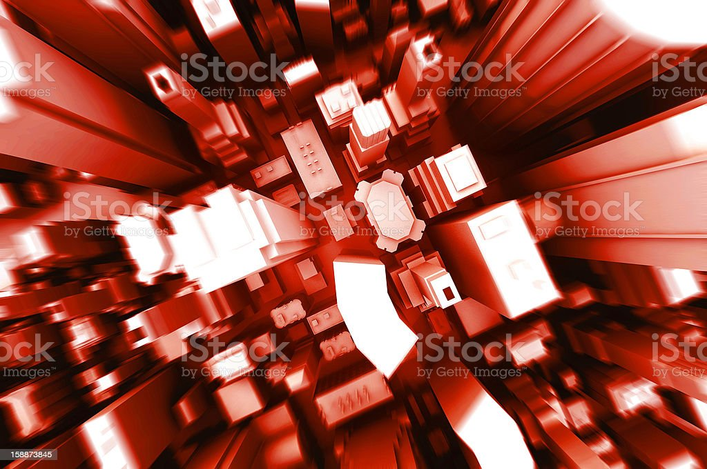 abstract 3d illustration of gray boxes city background royalty-free stock photo