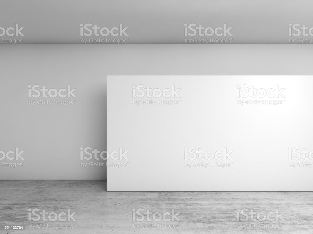 Abstract 3d interior, white banner