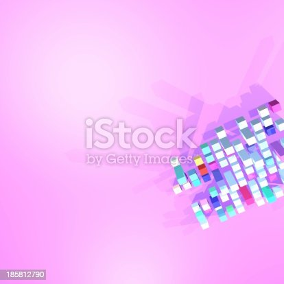 istock abstract 3D model cube background 185812790