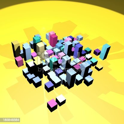 453066423 istock photo abstract 3D model cube building background 185846584