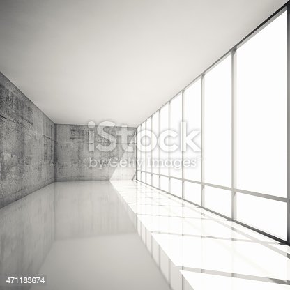 470934084 istock photo Abstract 3d modern architecture background, empty interior 471183674