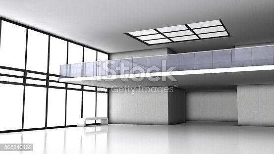 istock Abstract 3d modern architecture background, empty interior 505240162