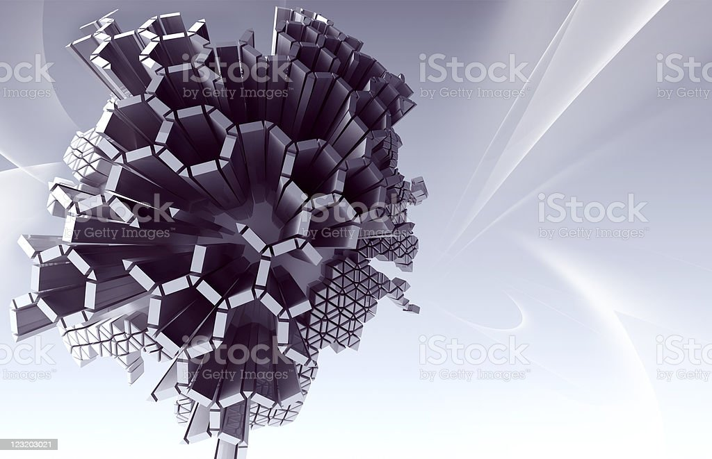 Abstract 3d object royalty-free stock photo