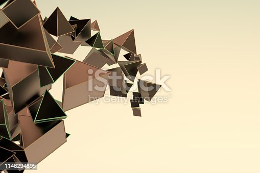 istock Abstract 3D Pyramid Background 1146294895