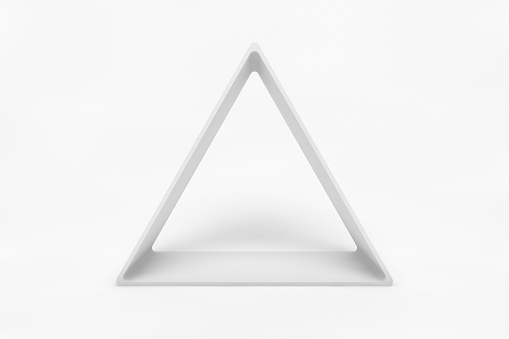 Abstract 3D Render of Triangle