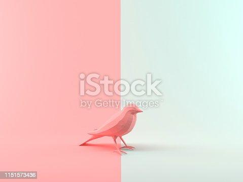istock Abstract 3D Rendering Bird 1151573436