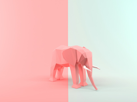istock Abstract 3D Rendering Elephant 1151573449