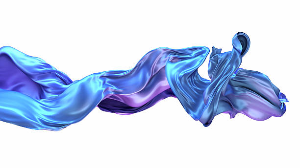 Abstract 3d rendering flowing blue cloth background Abstract 3d rendering flowing blue cloth background floating fabric stock pictures, royalty-free photos & images