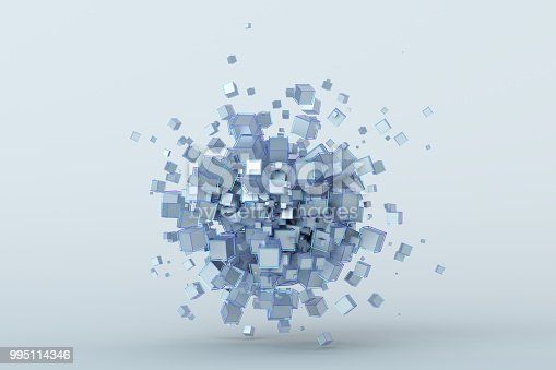 istock Abstract 3D Rendering of Cubes 995114346