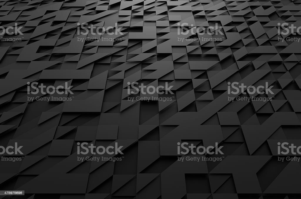 Abstract 3d rendering of futuristic surface with triangles stock photo