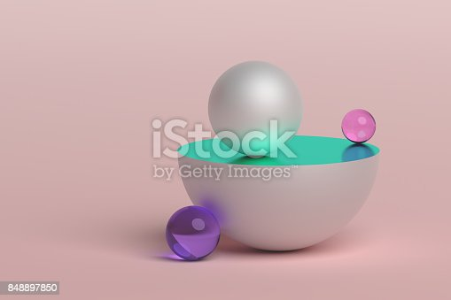 istock Abstract 3D Rendering of Geometric Shapes. 848897850