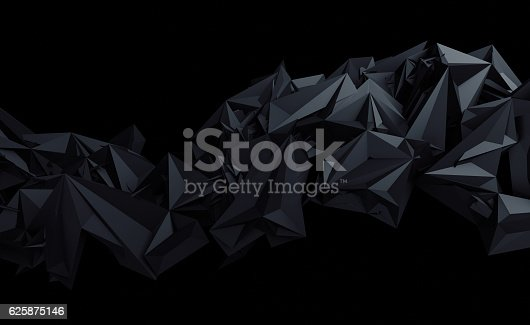 istock Abstract 3D Rendering of Polygonal Background. 625875146