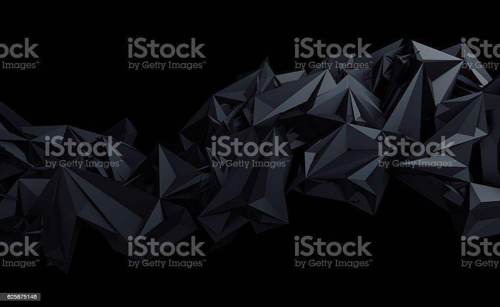 Abstract 3D Rendering of Polygonal Background. - foto de acervo